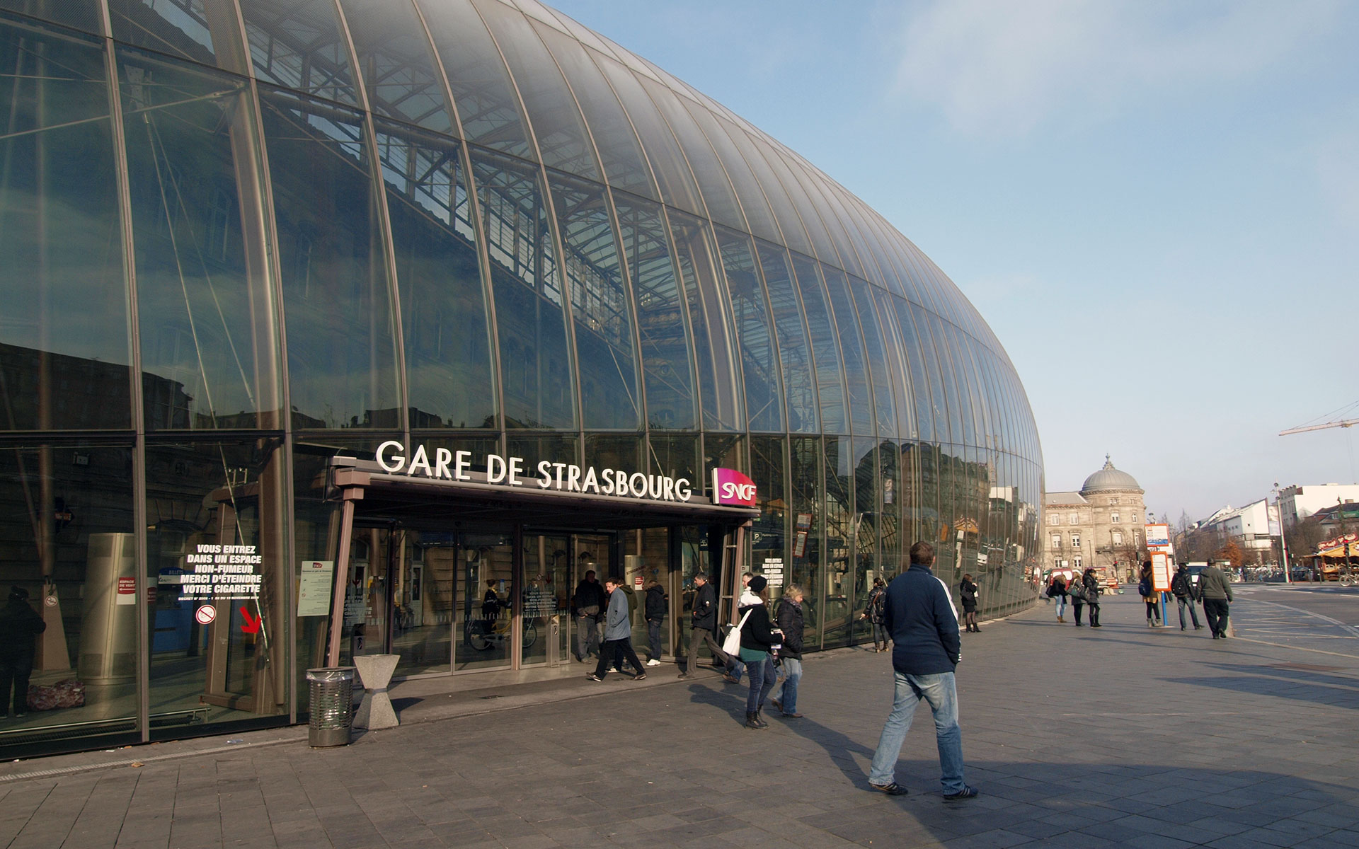 The Gare de Strasbourg, destination of a new high-speed service from Brussels which launches on 3 April 2016 (photo © hidden europe).
